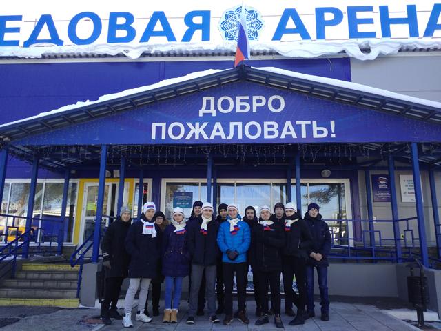 Волонтёры на открытие зимней спартакиады 2018 1