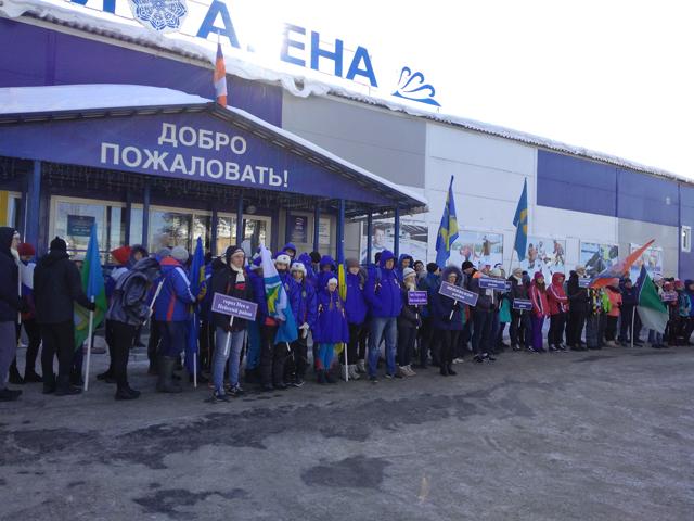 Волонтёры на открытие зимней спартакиады 2018 2
