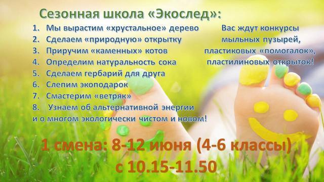 Сезонная школа «Экослед»: